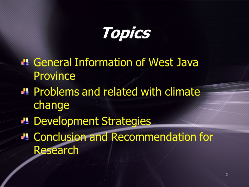 Topics General Information of West Java Province
