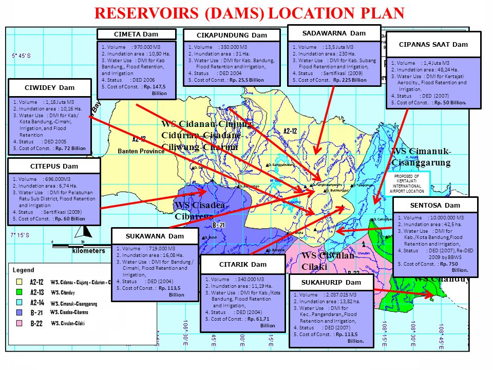 RESERVOIRS (DAMS) LOCATION PLAN