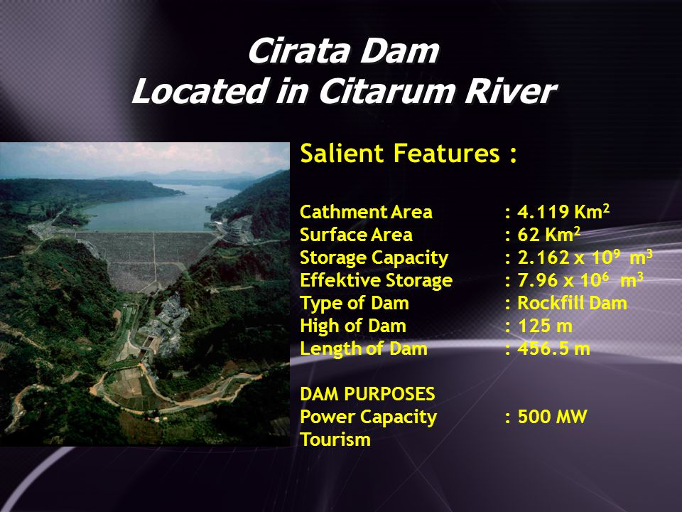 Cirata Dam Located in Citarum River