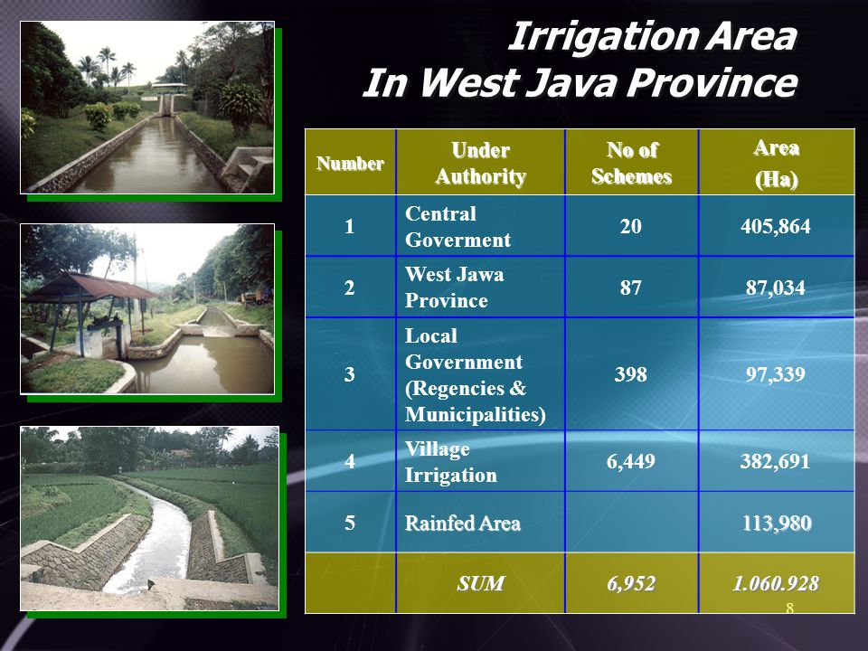 Irrigation Area In West Java Province
