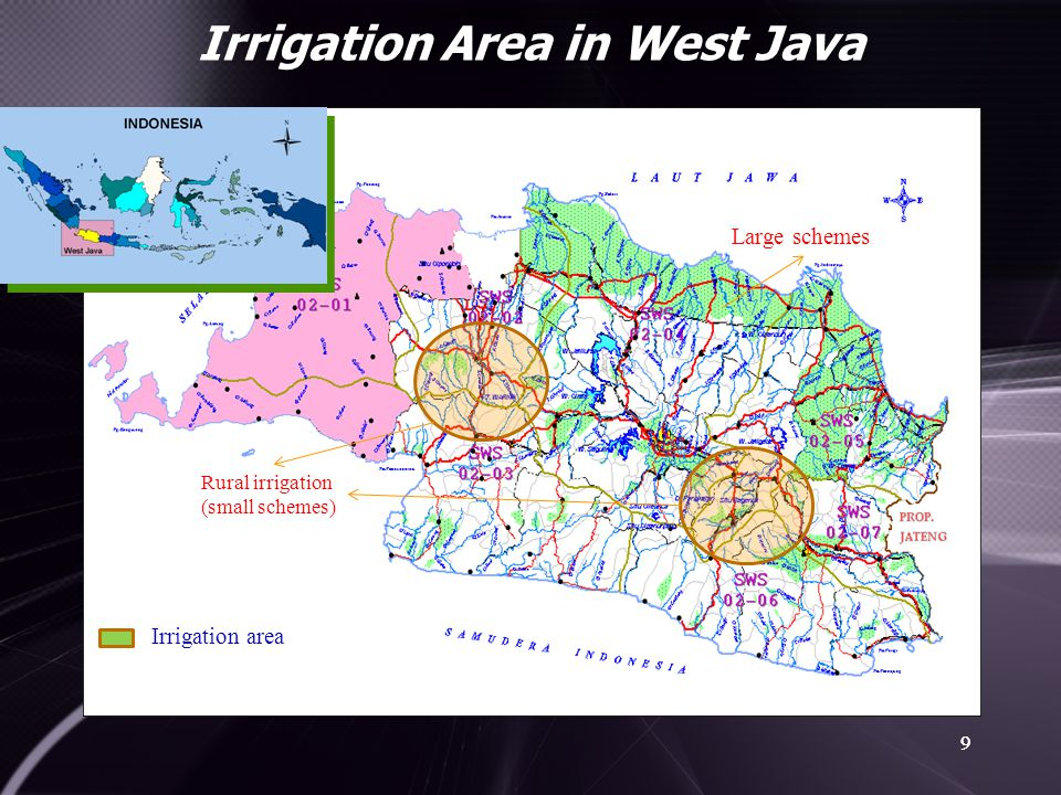 Irrigation Area in West Java