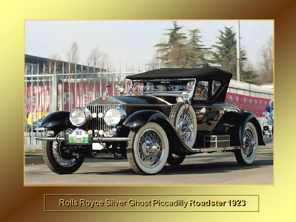 Rolls Royce Silver Ghost Piccadilly Roadster 1923