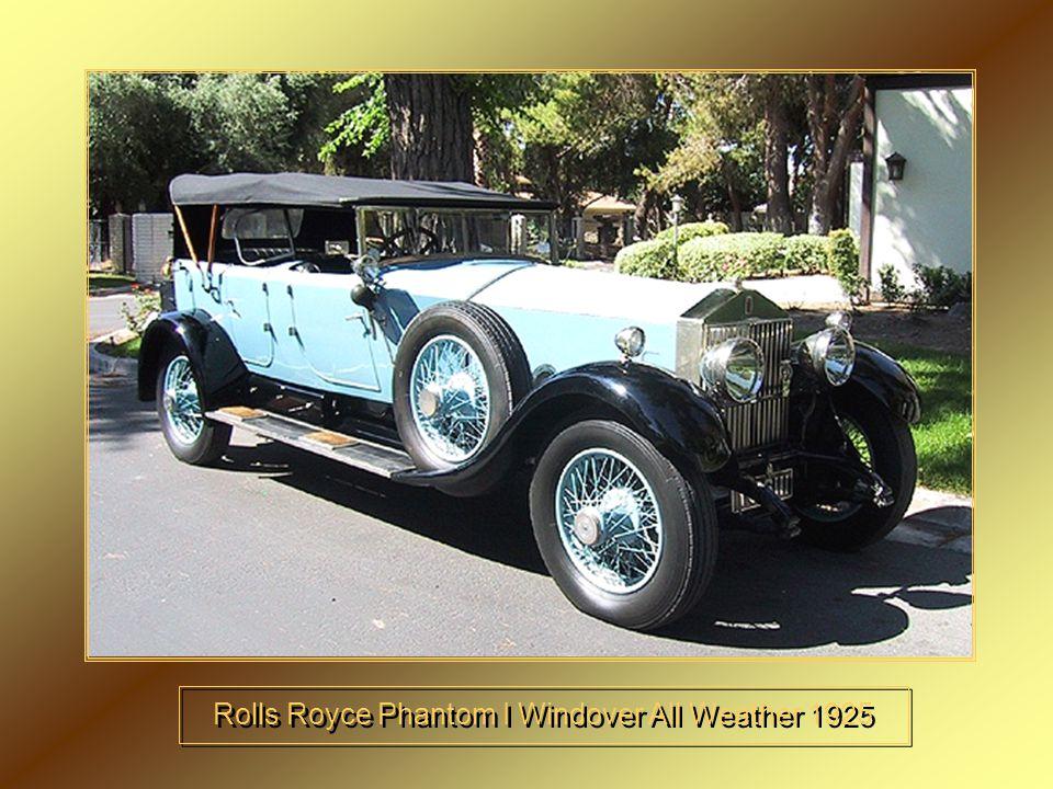 Rolls Royce Phantom I Windover All Weather 1925