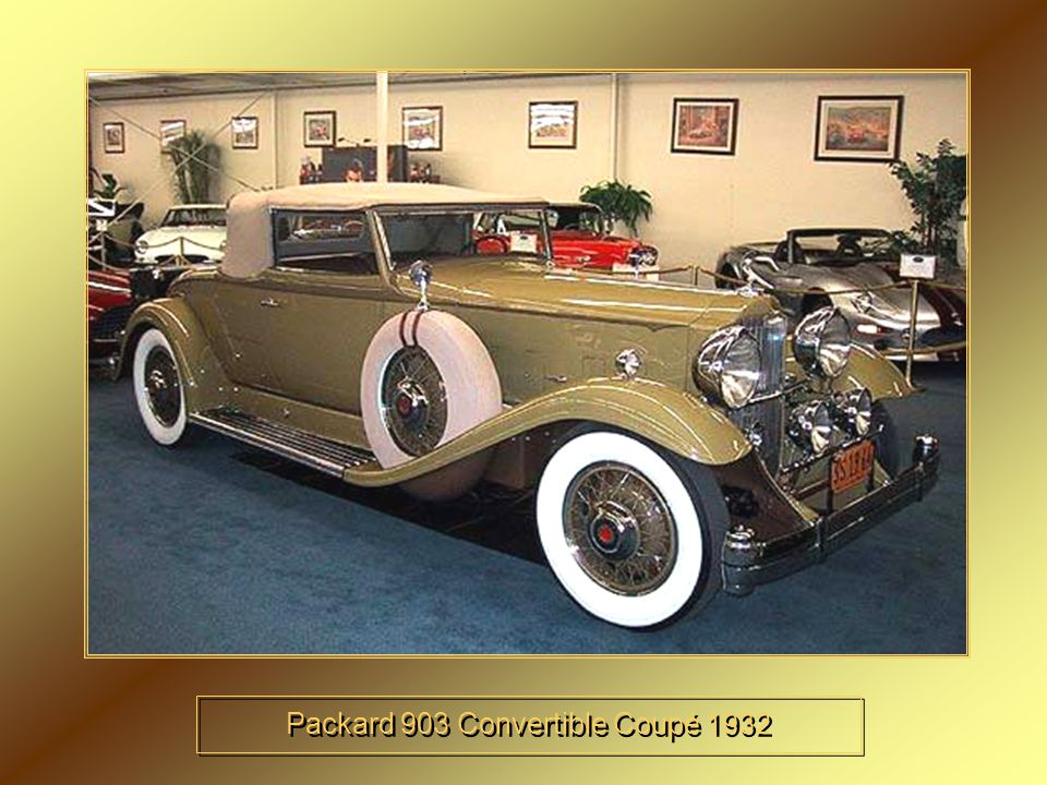 Packard 903 Convertible Coupé 1932