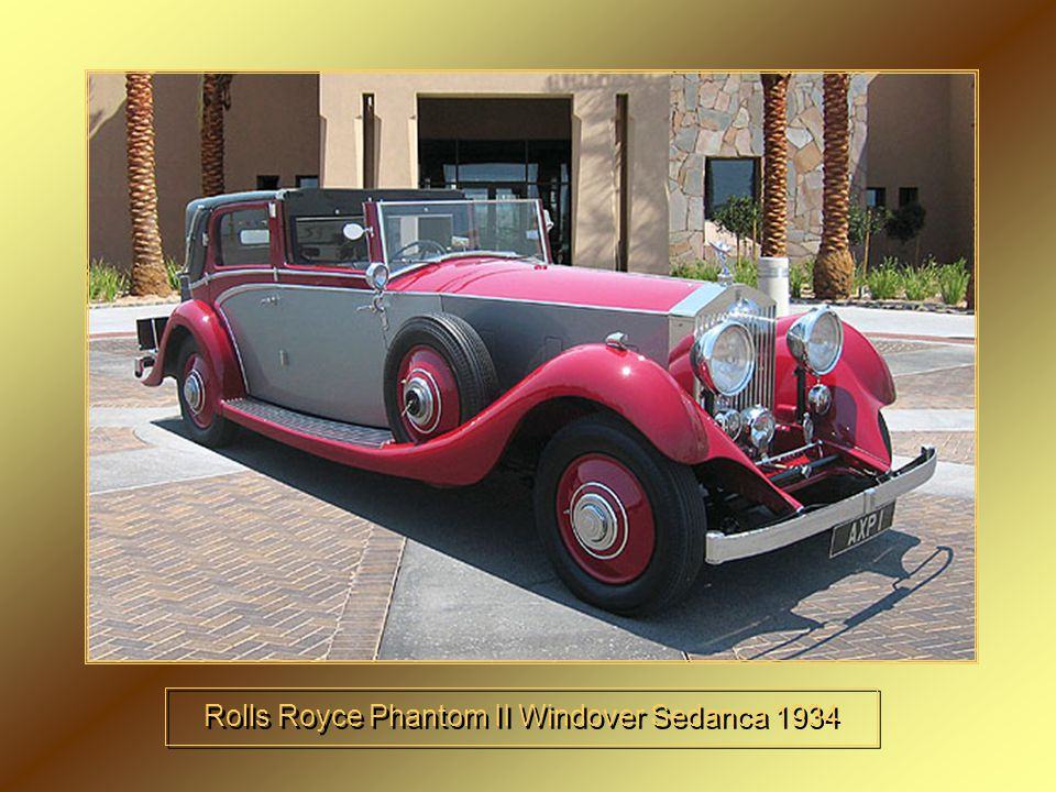 Rolls Royce Phantom II Windover Sedanca 1934