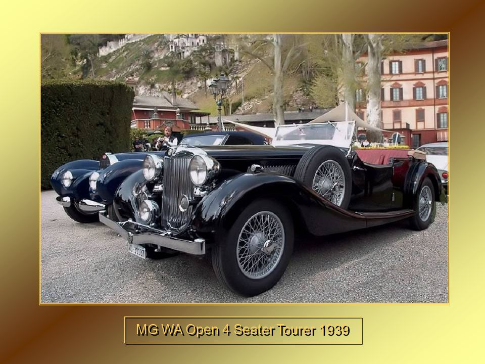 MG WA Open 4 Seater Tourer 1939