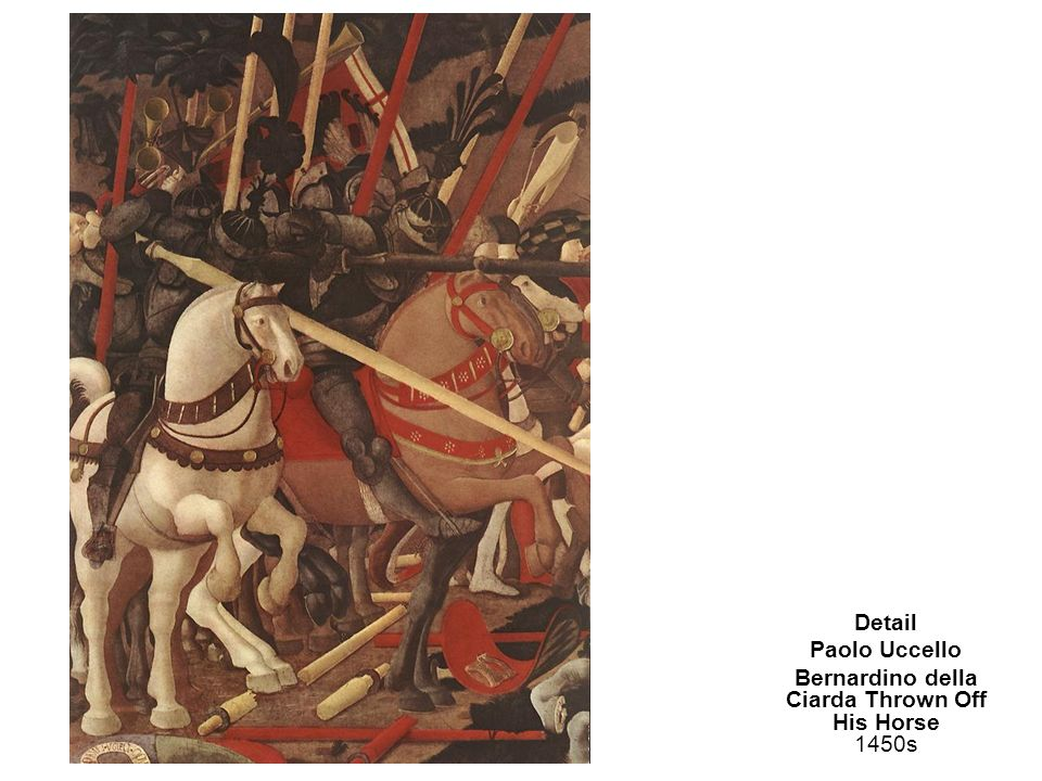 Bernardino della Ciarda Thrown Off His Horse 1450s