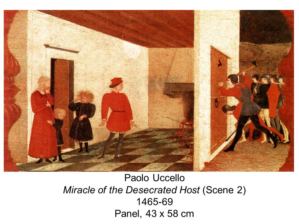 Paolo Uccello Miracle of the Desecrated Host (Scene 2) Panel, 43 x 58 cm