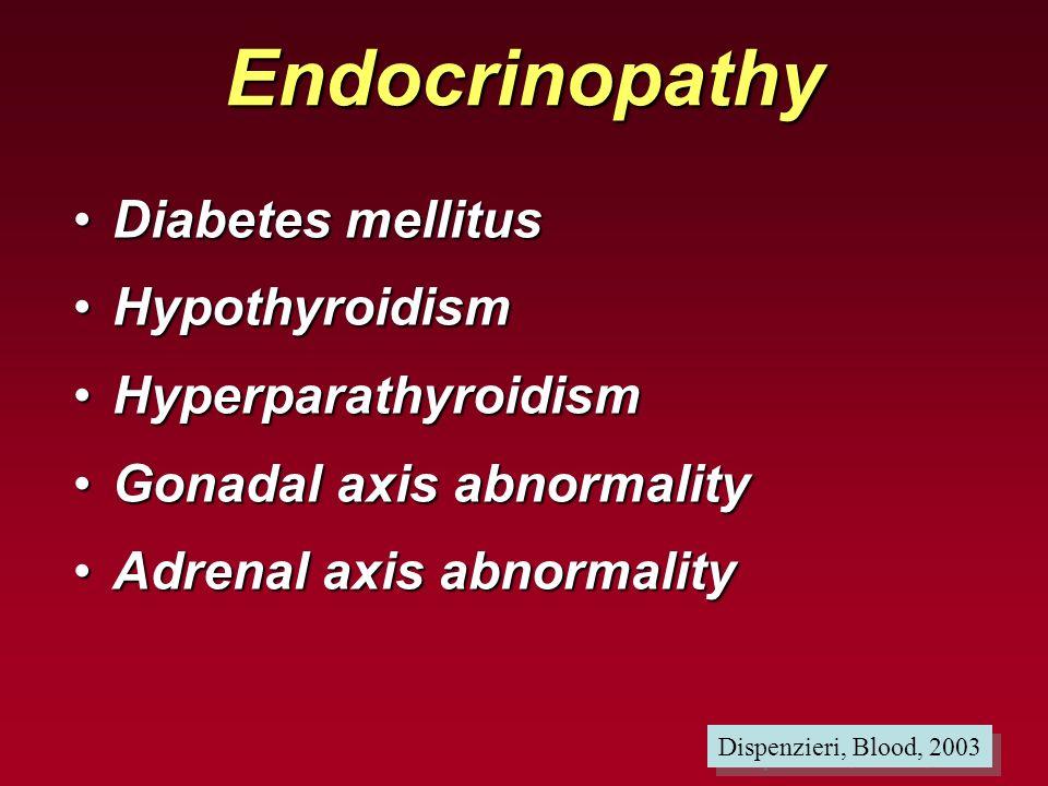 Endocrinopathy Diabetes mellitus Hypothyroidism Hyperparathyroidism