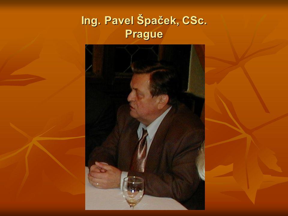 Ing. Pavel Špaček, CSc. Prague
