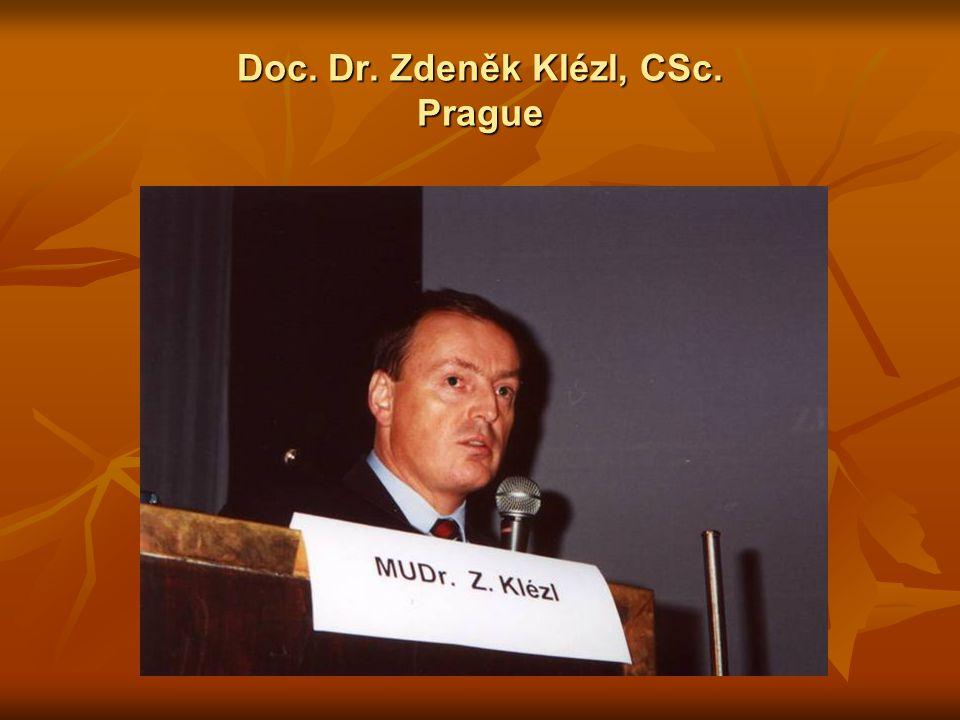 Doc. Dr. Zdeněk Klézl, CSc. Prague