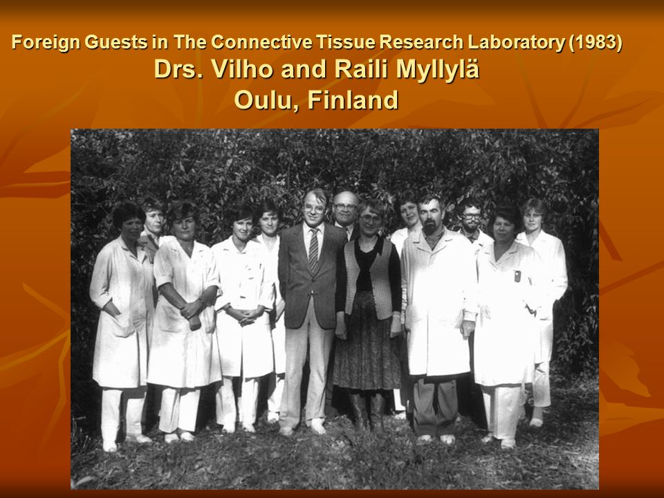 Foreign Guests in The Connective Tissue Research Laboratory (1983) Drs