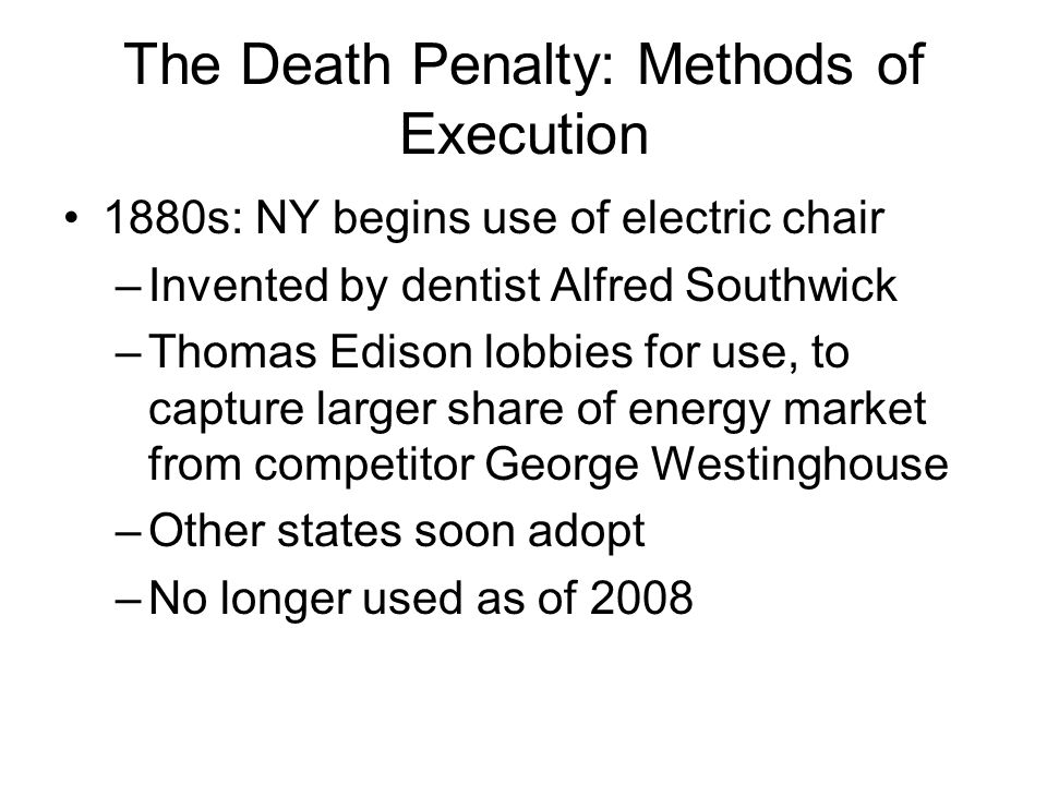 The Death Penalty: Methods of Execution