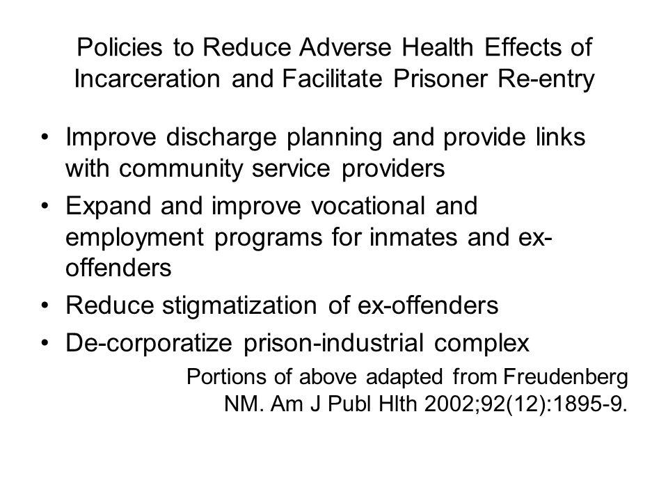 Reduce stigmatization of ex-offenders