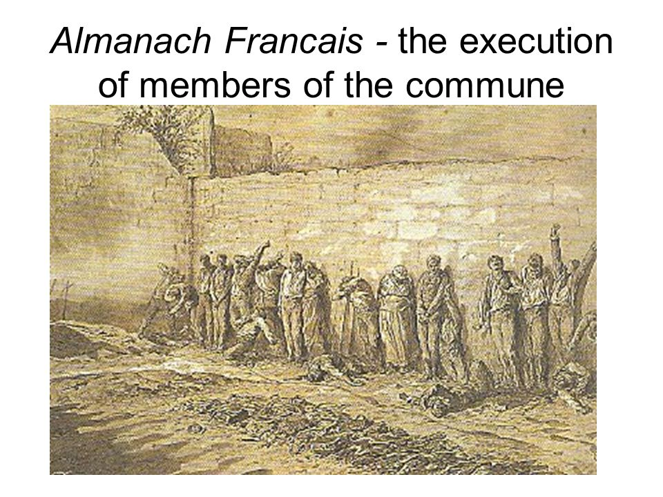 Almanach Francais - the execution of members of the commune