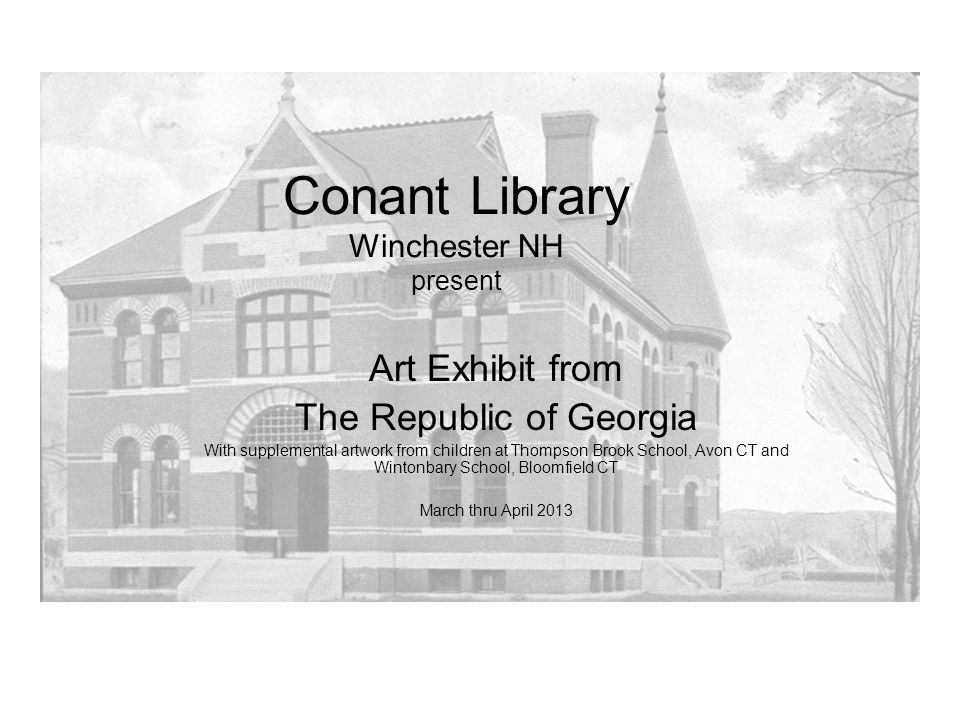 Conant Library Winchester NH present