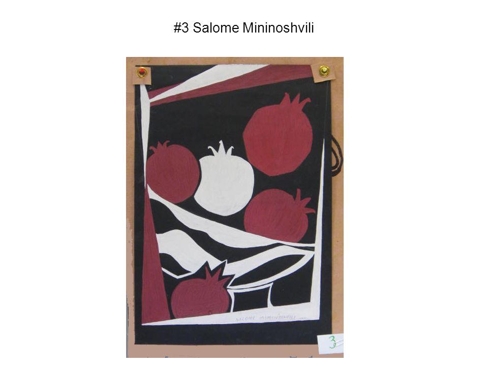 #3 Salome Mininoshvili