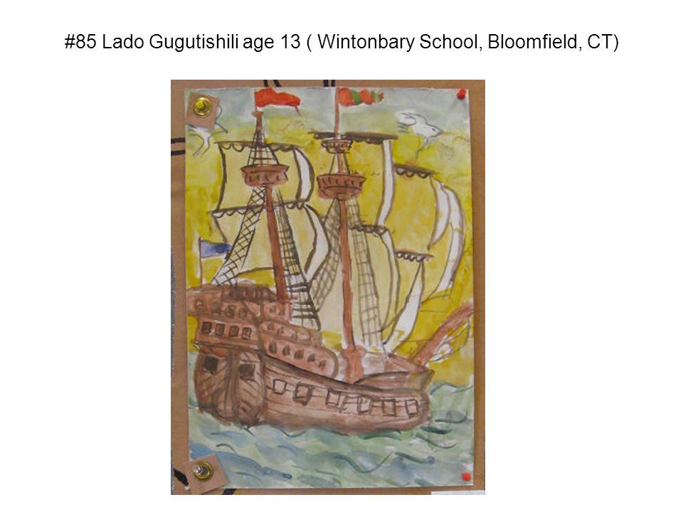 #85 Lado Gugutishili age 13 ( Wintonbary School, Bloomfield, CT)