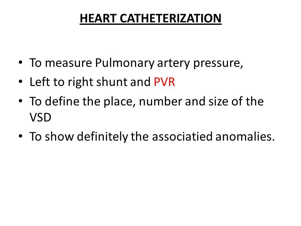 HEART CATHETERIZATION