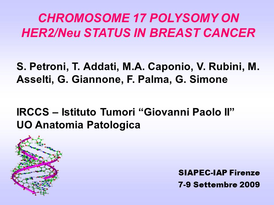 CHROMOSOME 17 POLYSOMY ON HER2/Neu STATUS IN BREAST CANCER