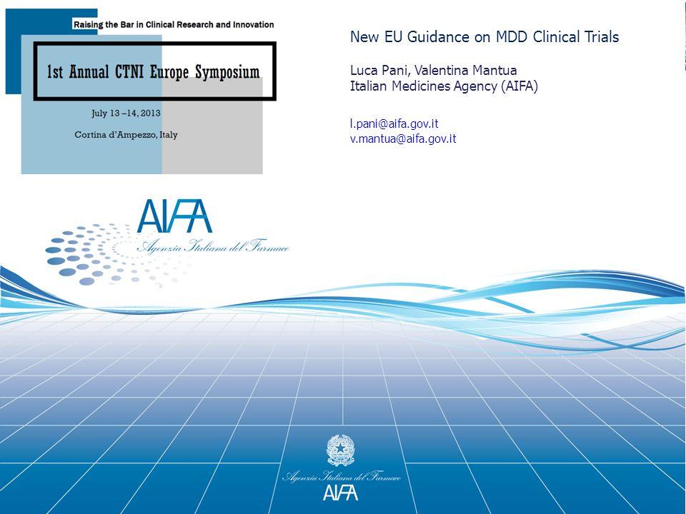 New EU Guidance on MDD Clinical Trials
