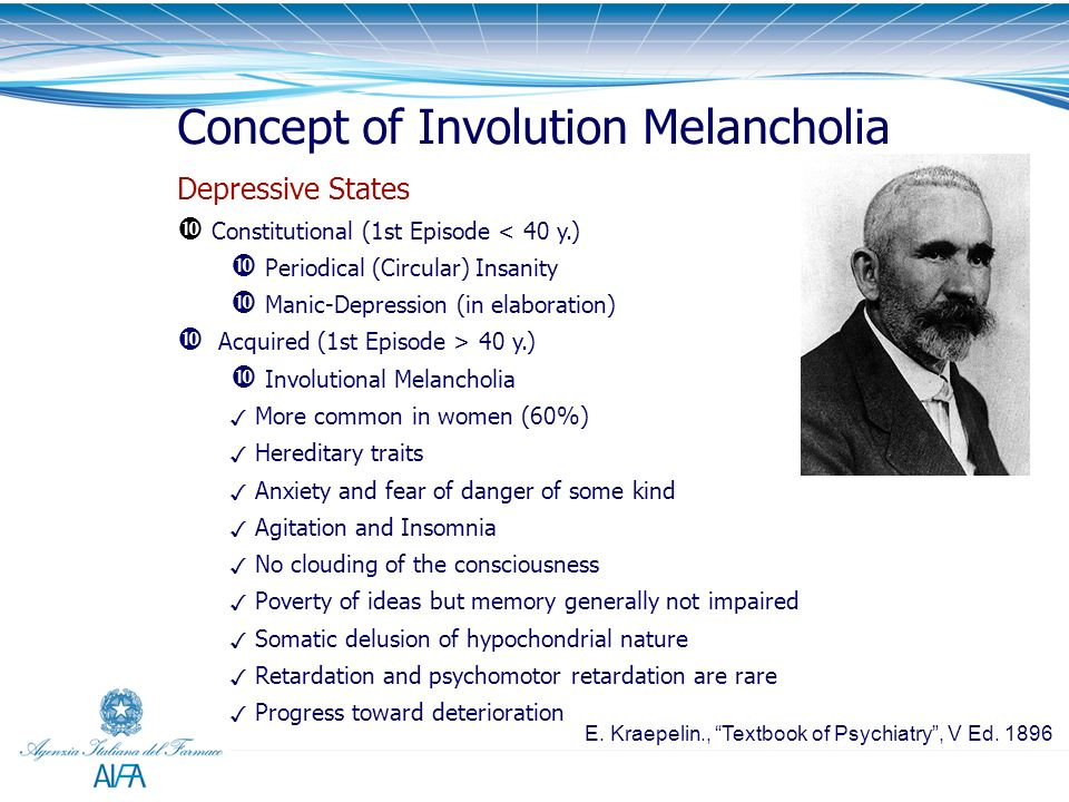 Concept of Involution Melancholia