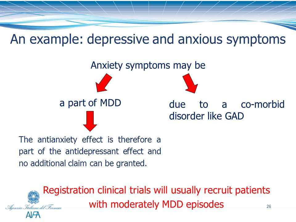 An example: depressive and anxious symptoms