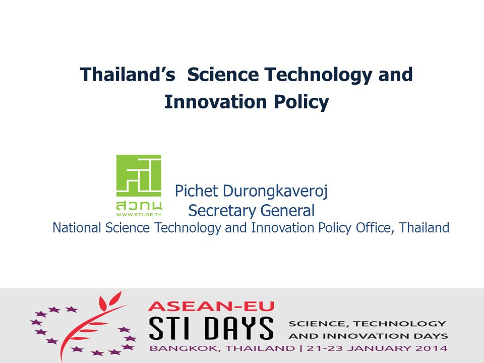 Thailand's Science Technology and
