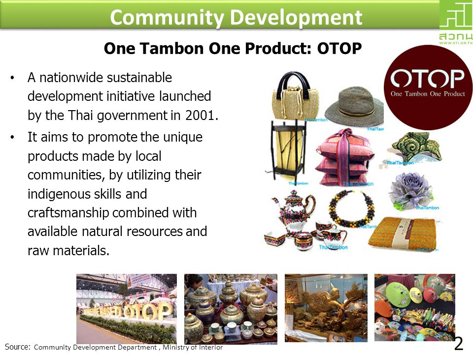 Community Development One Tambon One Product: OTOP