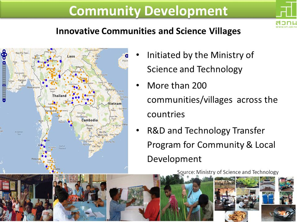 Community Development Innovative Communities and Science Villages