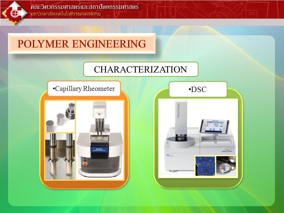 POLYMER ENGINEERING CHARACTERIZATION Capillary Rheometer DSC