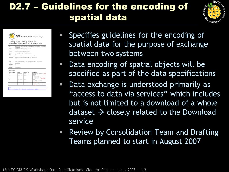 D2.7 – Guidelines for the encoding of spatial data