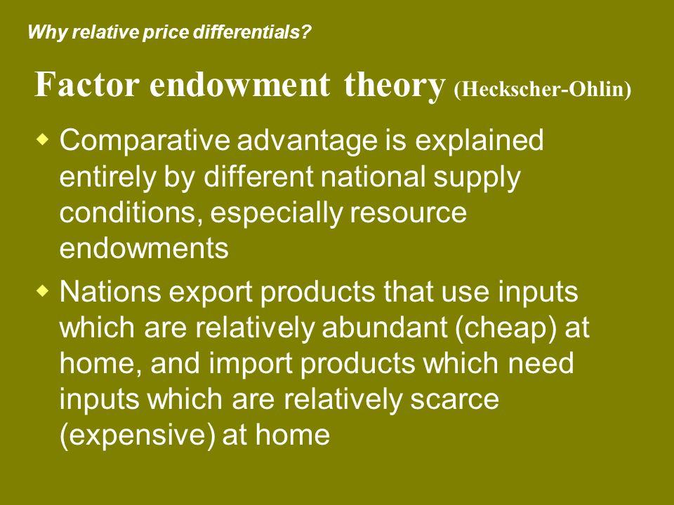 Factor endowment theory (Heckscher-Ohlin)