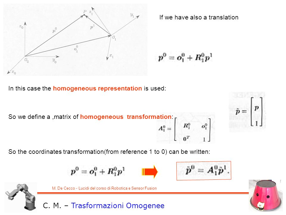 C. M. – Trasformazioni Omogenee