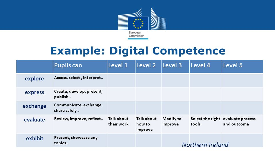 Example: Digital Competence