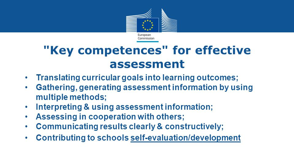 Key competences for effective assessment