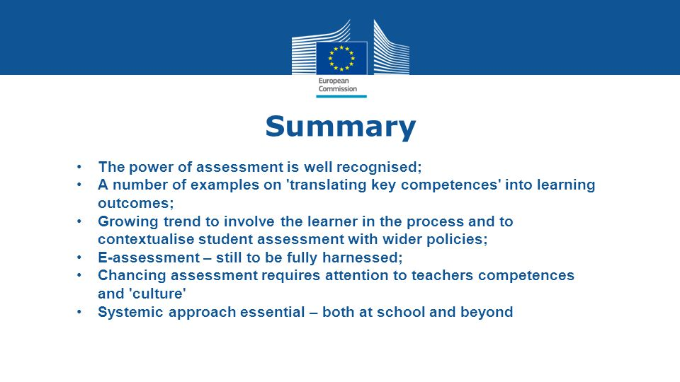 Summary The power of assessment is well recognised;