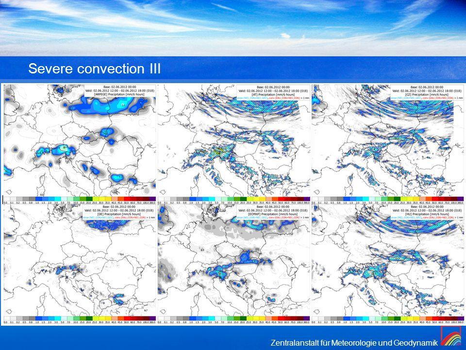 Severe convection III