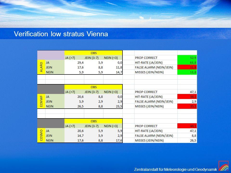 Verification low stratus Vienna