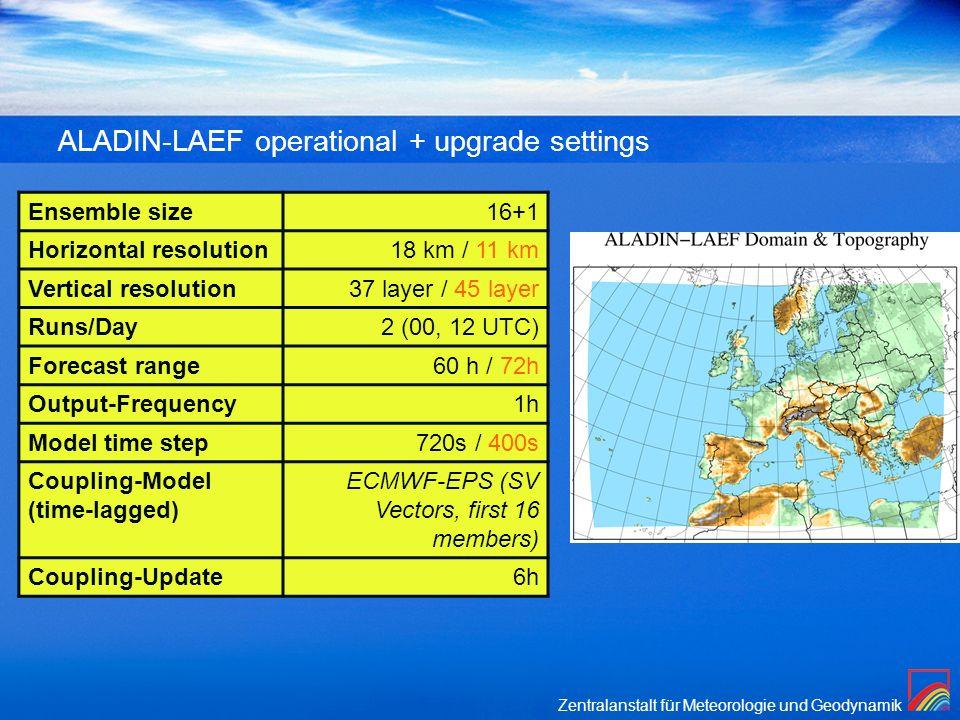 ALADIN-LAEF operational + upgrade settings
