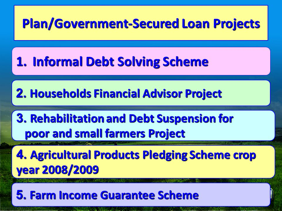 Plan/Government-Secured Loan Projects