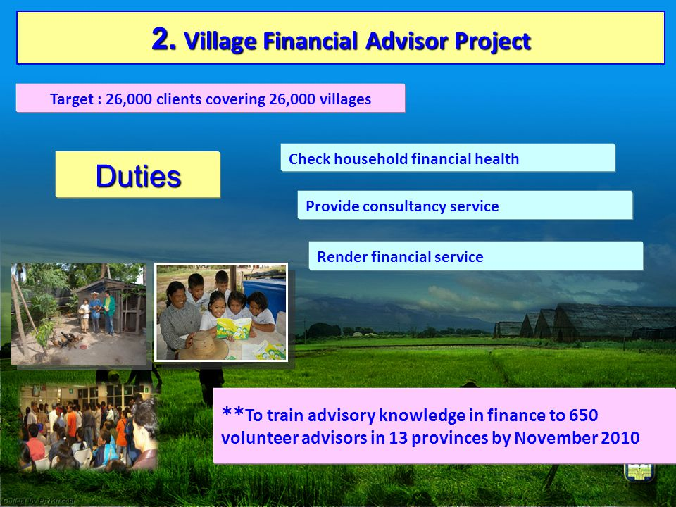 2. Village Financial Advisor Project