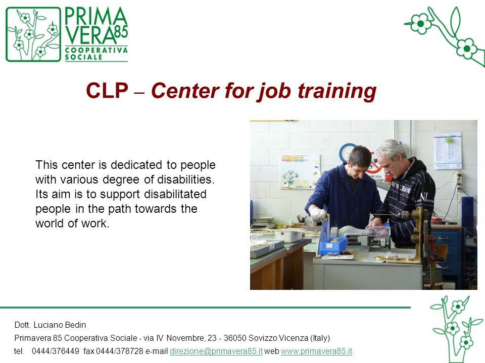 CLP – Center for job training