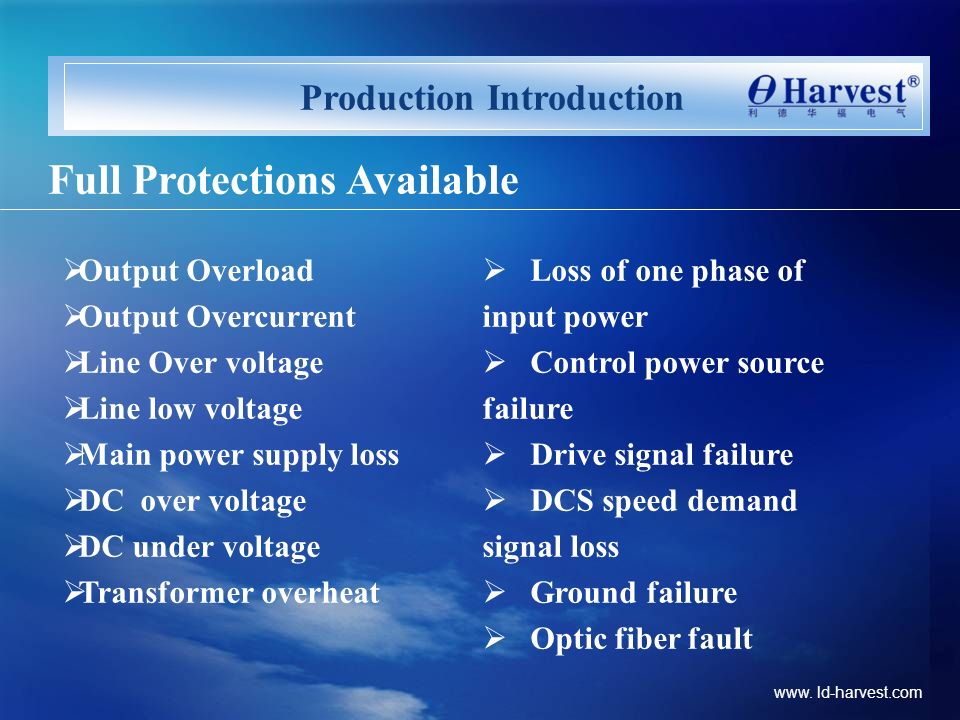 Production Introduction Full Protections Available