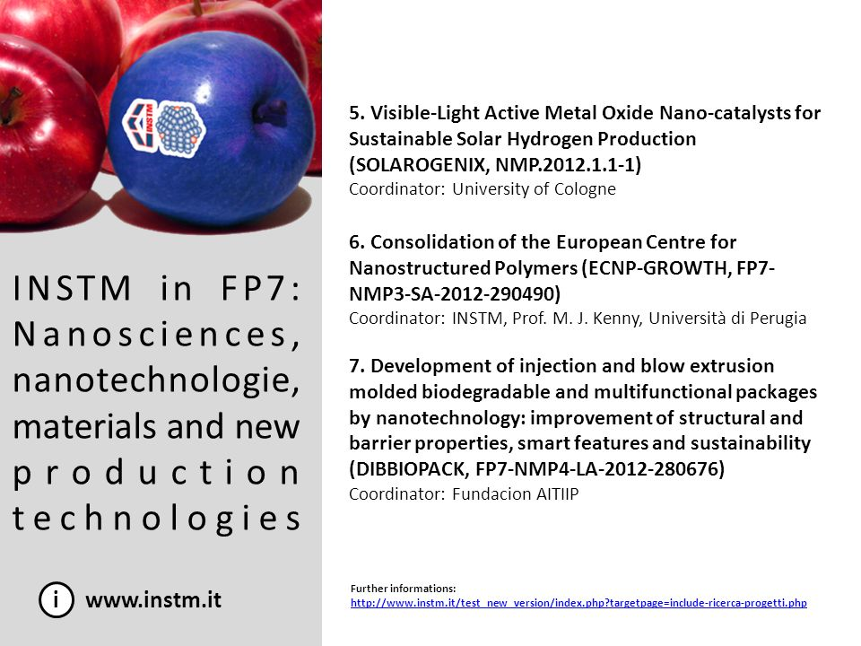 5. Visible-Light Active Metal Oxide Nano-catalysts for Sustainable Solar Hydrogen Production (SOLAROGENIX, NMP.2012.1.1-1)