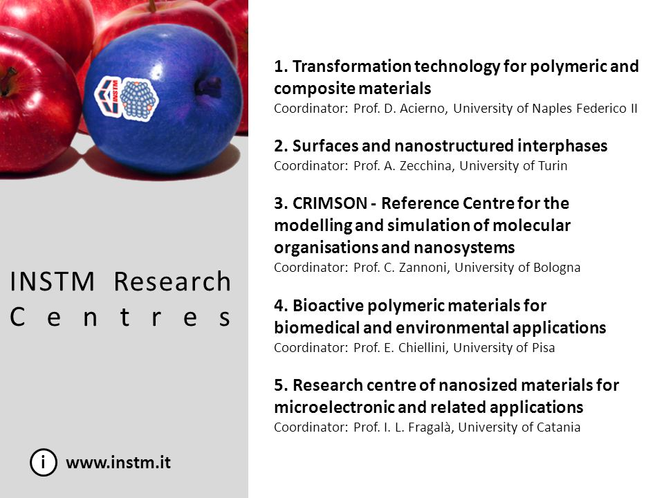 INSTM Research Centres