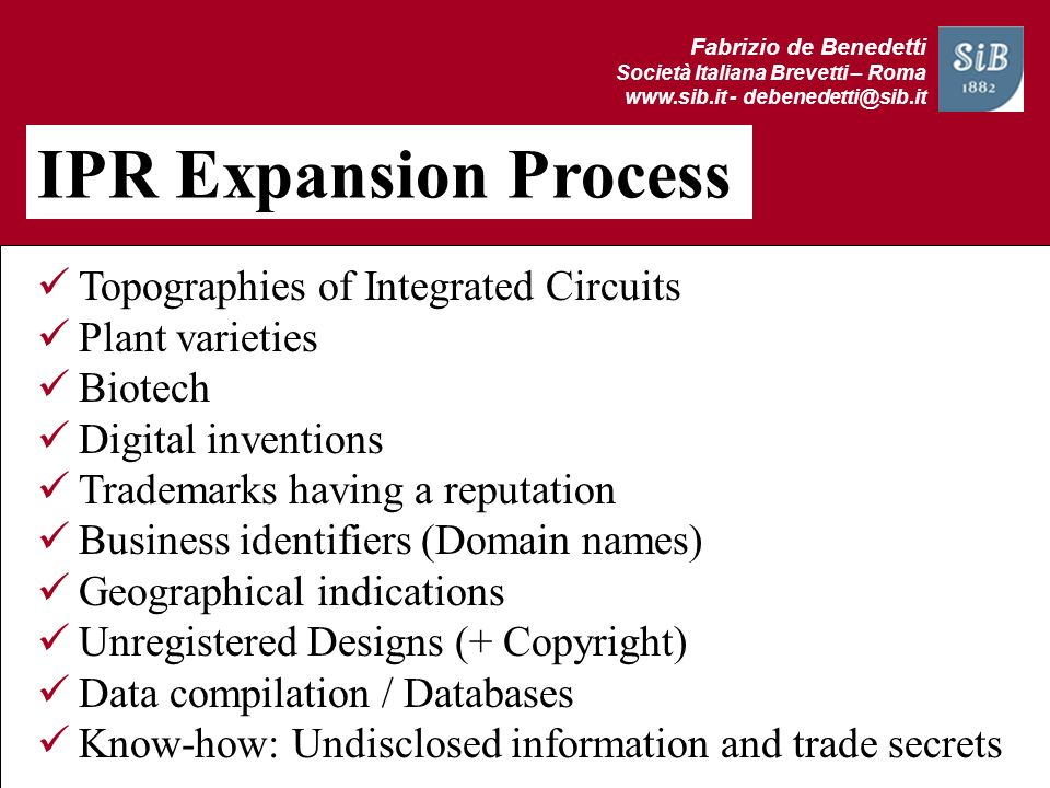 IPR Expansion Process Topographies of Integrated Circuits