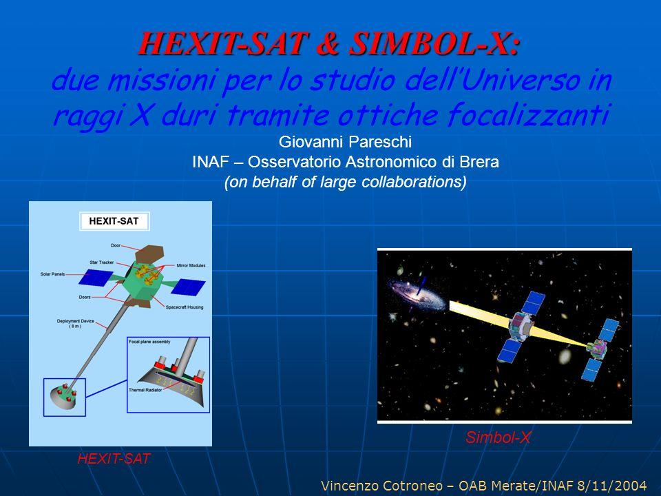 HEXIT-SAT & SIMBOL-X: due missioni per lo studio dell'Universo in raggi X duri tramite ottiche focalizzanti.