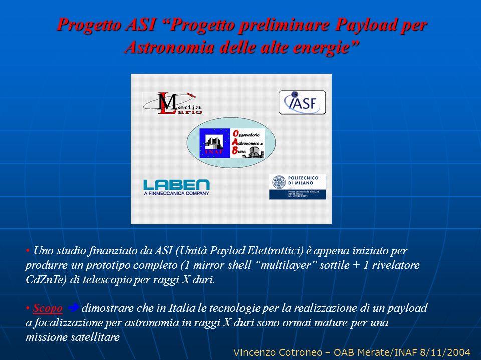 Progetto ASI Progetto preliminare Payload per Astronomia delle alte energie