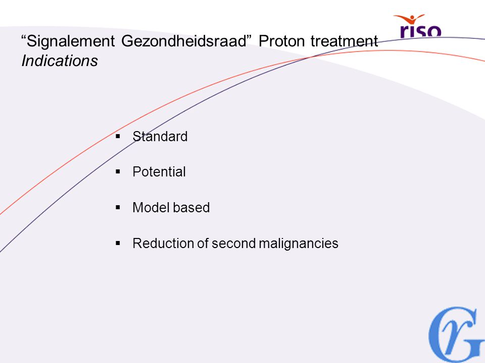 Signalement Gezondheidsraad Proton treatment Indications
